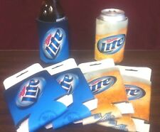 Miller Lite Beer Can Bottle Cooler Koozie - New & F/S - 3 Each - Six (6) Total