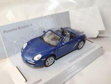 "Porsche Boxster S Blue Die Cast Metal Model Car 5"" Kinsmart Collectable New"