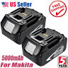 2X BL1850-2 LXT BATTERY 18V Lithium 5AH FOR Makita BL1840 BL1860 Cordless Tools