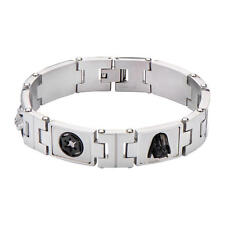 Star Wars Dark Side Symbols Stainless Steel Link Bracelet