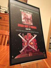 "Big 11X17 Framed Brian May & Friends ""Star Fleet Project"" Lp Album Cd Promo Ad"