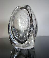 Floris meydam Air Bubble trangular art glass vase F. royal Leerdam NL 1960s