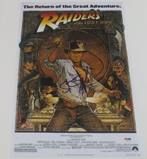 STEVEN SPIELBERG SIGNED 12X18 PHOTO INDIANA JONES POSTER  AUTOGRAPH PROOF PSA A