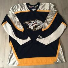 Nashville Predators CCM Hockey Jersey Blue Silver Blank No Number Size XL