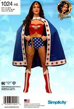 Simplicity Sewing Pattern 1024 Misses' Costumes DC Comics Wonder Woman 6-14 NEW