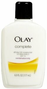 OLAY COMPLETE ALL DAY MOISTURIZER W/ SUNSCREEN SPF 15 COMBINATION/OILY, 6 FL OZ