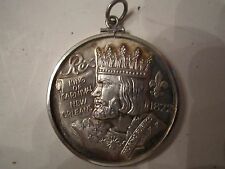 1975 KING REX .999 SILVER MARDI GRAS DOUBLOON COIN/MEDAL PENDANT LOOPED - JJ