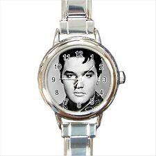 NEW*HOT ELVIS PRESLEY Round Italian Charm Wrist Watch Gift