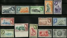 Barbados   1953-57   Scott #235-247   MLH - MNH Set
