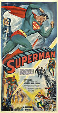 "1948 Superman Serial Movie Poster  Replica 10x19"" Photo Print"