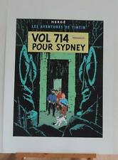 Herge serigraphie Tintin Vol 714 pour Sydney 1500 ex Escale