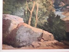 LARGE THOMAS MORAN 1906 DESERT SCENE, SIGNED & DATED IN IMAGE