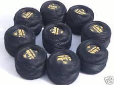 10 Black ANCHOR Pearl Cotton Balls.Size 8,85 Mtrs each