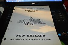 New Holland 77 Baler Operator's Manual WPNH White Cover