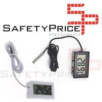 Termometro digital sonda 1m externa temperatura lcd acuario congelador  SP
