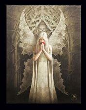 Kleine Leinwand mit Gothic Engel - Only Love Remains - Bild Anne Stokes Fantasy