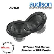 """Audison AV 3.0 - 3"""" Voce Component Mid-Range Speakers 200 Watts Total Power"""