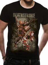 Official Justice League Deathstroke T Shirt DC Comics Harley Quinn