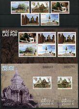 Laos Lao 2014 Hist. Plätze Architektur Geschichte History A/B Perf Imperf MNH