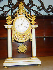 Original marmor Louis Seize, Empire Uhr um 1800