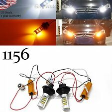 1156 7506 Switchback LED Bulbs For Daytime Running Lights/Turn Signals 42-SMD