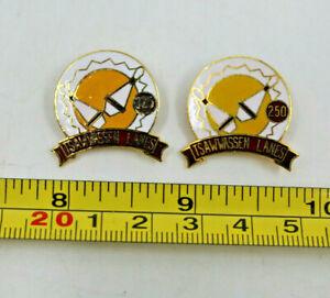 Tsawwassen Lanes Delta BC Canada 250 325 Bowling Pins Collectible Pin Vintage