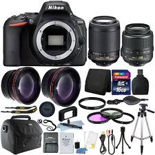 Nikon D5500  Digital SLR Camera w/ 18-55mm VR + 55-200mm Lens + 16GB Kit