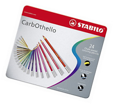 STABILO CarbOthello Metal Box of 24 colours - Chalk-pastel coloured pencil