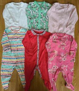 Next baby Girls Sleepsuit Bundle 3-6 Months floral puppy giraffe 6 pieces (182)
