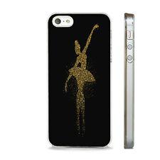 GOLD BALLERINA BALLET DANCER  NEW PHONE CASE COVER FITS All APPLE IPHONE MODELS