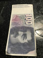 More details for switzerland: 1 x 100 swiss franc banknote.