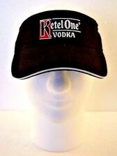 Tennis Golf Visor Black Ketel One Hat Cap One Size Adjustable New Old Stock
