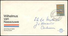 Paesi Bassi 1968 olandese INNO NAZIONALE FDC primo giorno Coperchio #C 27337