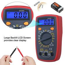 LCD Digital Multimeter Voltmeter Current Ohmmeter Temperature Multi Tester AC DC