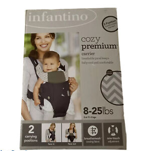 Infantino Cozy Premium Baby Carrier 8-25 lbs. Face-In Face-Out ~ NIB