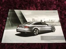 Audi A5 Sportback Brochure 2010 - Aug 2009 issue