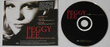 Peggy Lee  Fever single remix  U.S. promo cd  -Rare!
