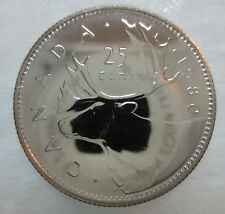 1980 CANADA 25 CENTS PROOF-LIKE QUARTER COIN