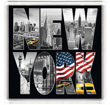 NEW YORK BW VIEW FRIDGE MAGNET SOUVENIR IMAN NEVERA