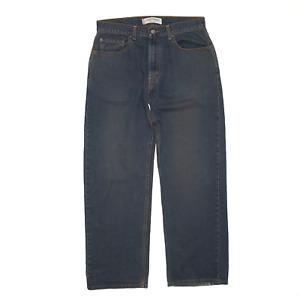 LEVI'S 569 Blue Denim Loose Straight Jeans Mens W34 L34