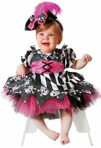 Abigail the Pirate Toddler Child Costume Pink Black White Dress Halloween