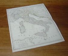MAPPA D' ITALIA  cartografia geografia atlante viaggi grand tour stieler (6)