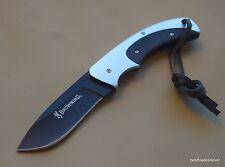 BROWNING OBSESSION FIXED BLADE FULL TANG HUNTING SKINNING KNIFE NYLON SHEATH