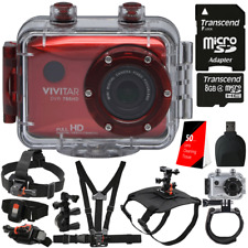 Vivitar DVR786HD 1080p HD Waterproof Action Video Camera Red with Accessory Kit