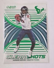 2016 PANINI CLEAR VISION CLEAR SHOTS DEANDRE HOPKINS#4 EMERALD SER#/19