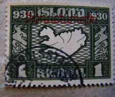 Iceland #  Facit Tj 70  Althingi 1930. Þjónusta used. Rare stamp.