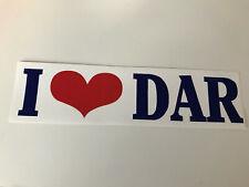 Daughters of the American Revolution I Love DAR Logo Car Bumper Sticker - NEW