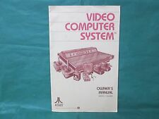 Atari Video Computer System Owner's Manual Model CX2600A *Manual Only*