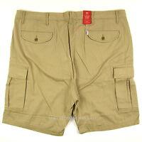 Levis Cargo Shorts Mens New Loose Fit SIZES 44 - 46 - 48 KHAKI Levi's NWT