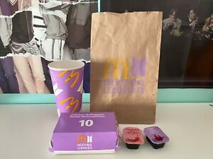 BTS Meal Packaging with unopened Cajun and Sweet Chili Sauce